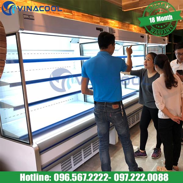 tủ mát trưng bày thực phẩm giá rẻ Vinacool