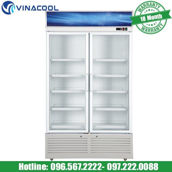 tủ mát trưng bày nước giải khát 2 cánh kính SLG-1200F