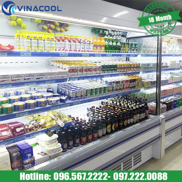 sắp xếp thực phẩm trong tủ siêu thị hợp lý
