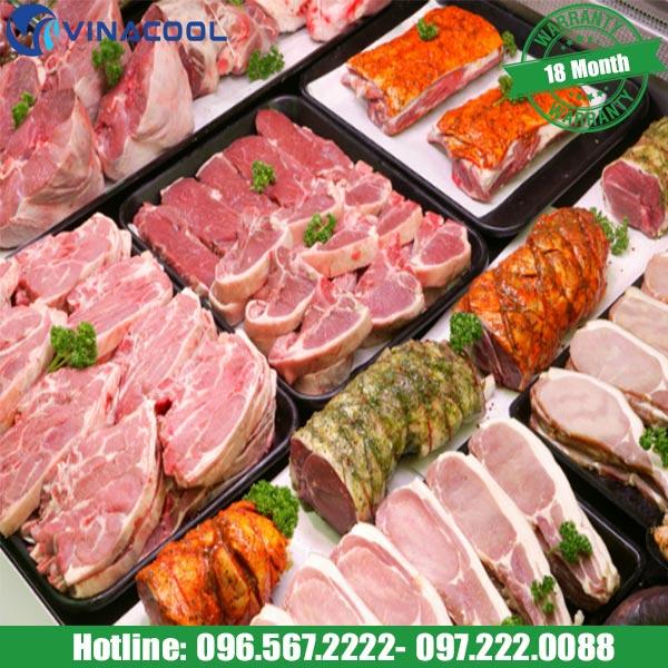 kinh doanh với chiếc tủ mát trưng bày thịt
