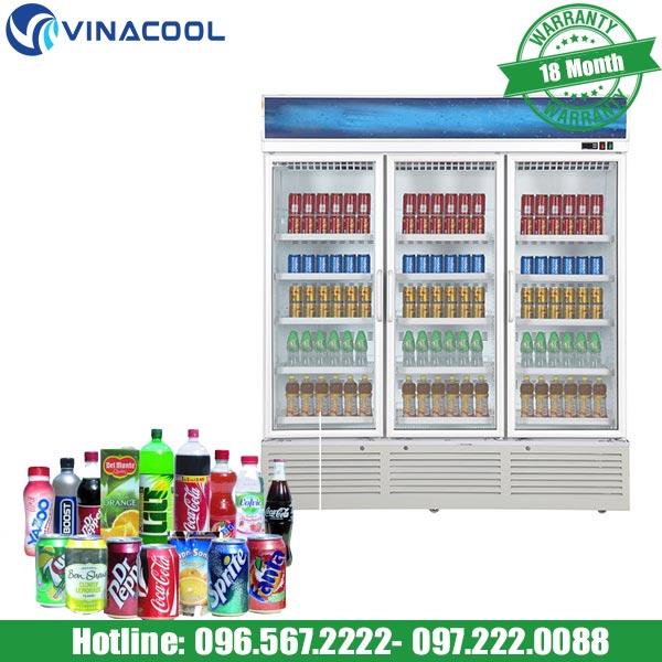 tủ trưng bày nước ngọt có kính vinacool
