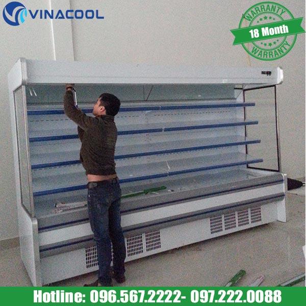 tủ mát trưng bày thực phẩm Vinacool SLG-2000F chất liệu cao cấp