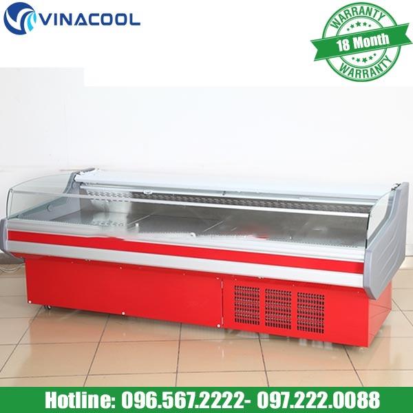 Tủ mát trưng bày thịt cá tươi sống SXG-2500F cao cấp Vinacool