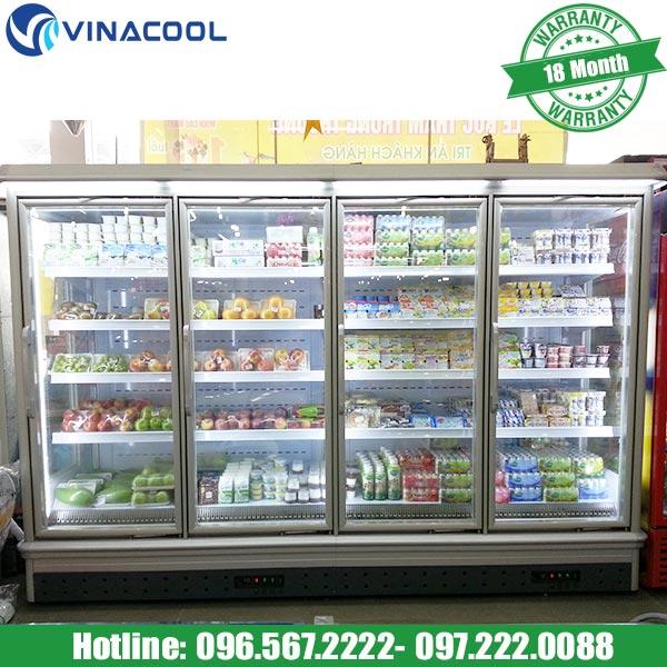 tủ bảo quản sữa chua trong siêu thị
