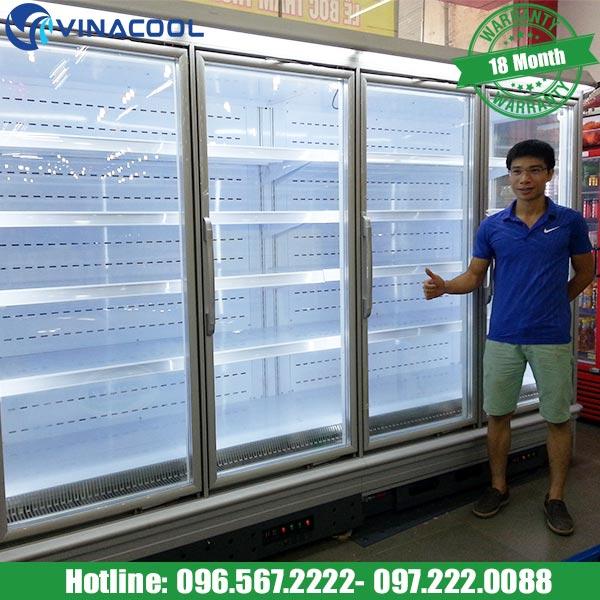 lắp đặt tủ mát siêu thị Vinacool
