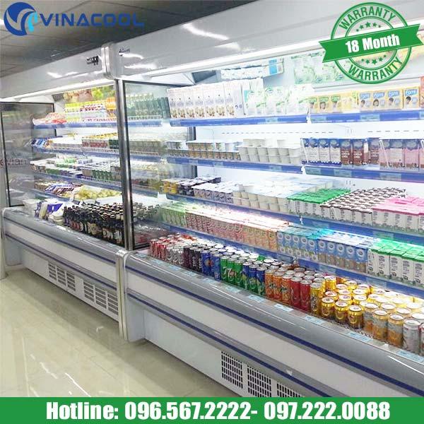 tủ mát siêu thị bảo quản thực phẩm Vinacool
