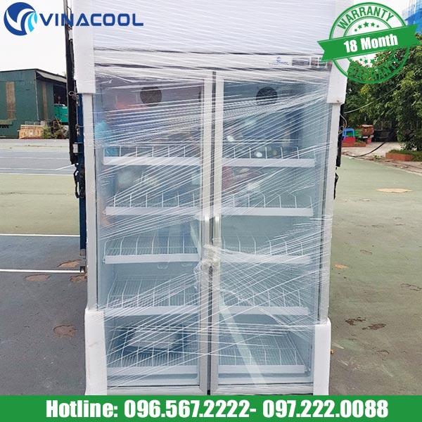 tủ mát 2 cánh kính Vinacool chất liệu cao cấp