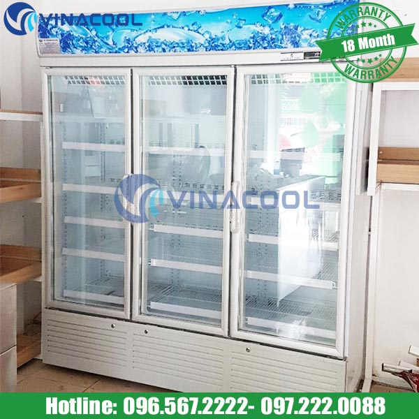 tủ bảo quản rau củ 3 cánh kính SLG-1800f