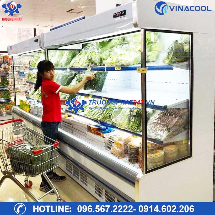lắp đặt tủ mát đựng rau củ Vinacool
