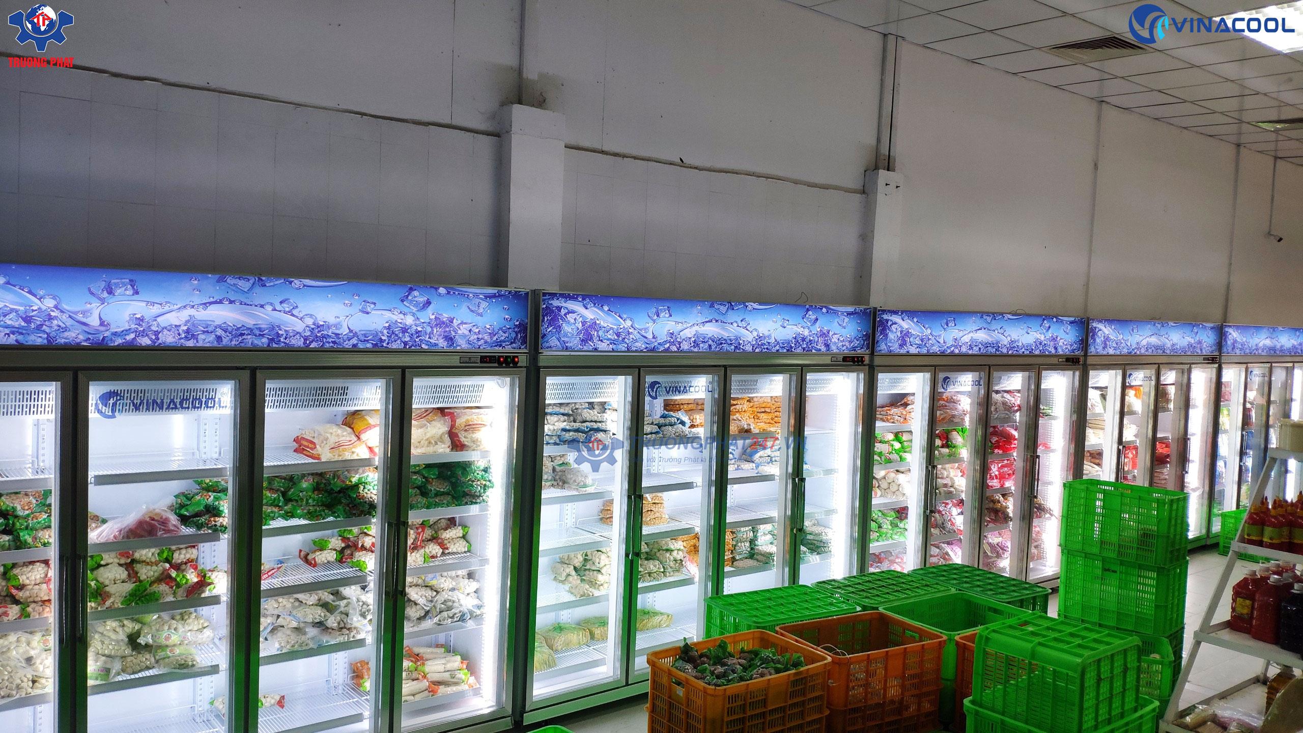 hệ thống tủ đông lạnh 4 cánh kính vinacool