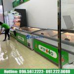 tủ đông nằm 2m1 trưng bày thực phẩm đông lạnh