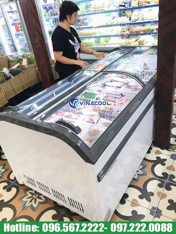 tủ đông trưng bày thực phẩm cong đôi WD4-1008