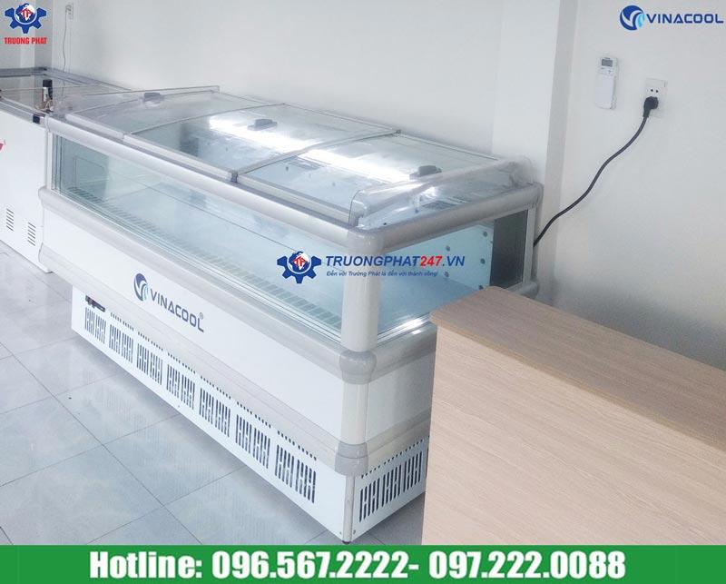 tủ đông nằm 4 mặt kính Vinacool