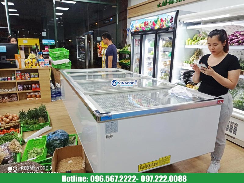 tủ đông siêu thị 2m6