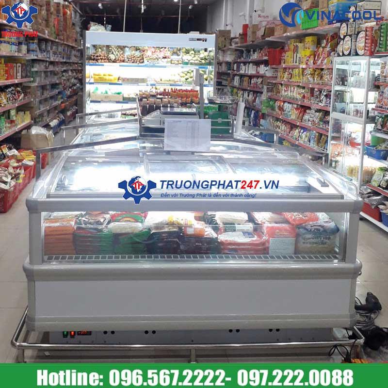 tủ đông trừng bày thực phẩm siêu thị